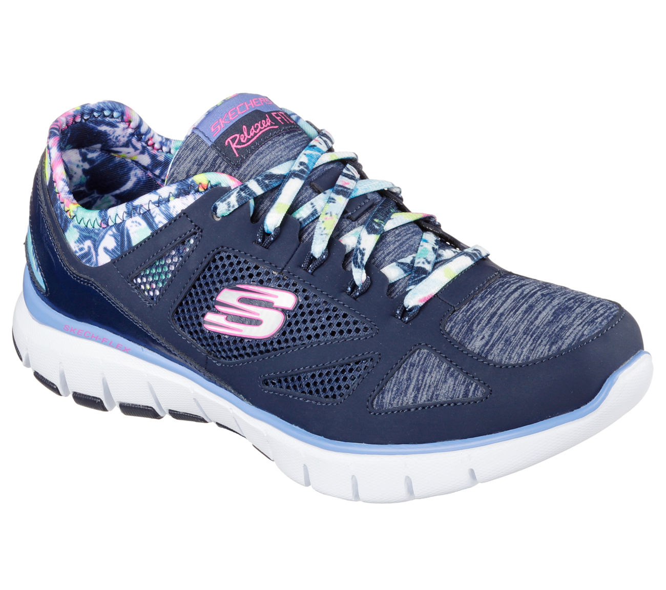 Skechers 12133 NVMT Women's SKECH FLEX-TROPICAL VIBE Training by Skechers