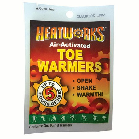 1 Case   Heatworks Adhesive Toe Warmers 288 Pair Case   6 Cases Carton