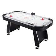 "84"" (7) Indoor Air Hockey Table with Electronic Scorer for Family Game Rooms by"