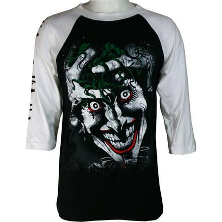 DC Comics Killing Joker Men's Raglan Shirt - Joker Tie