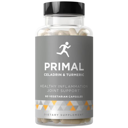 PRIMAL Joint Support & Healthy Inflammation - Fast-acting Potency, Strong Flexibility, Lasting Mobility, Inflammation Protection - Celadrin, Turmeric Curcumin, Boswellia - 60 Vegetarian Soft