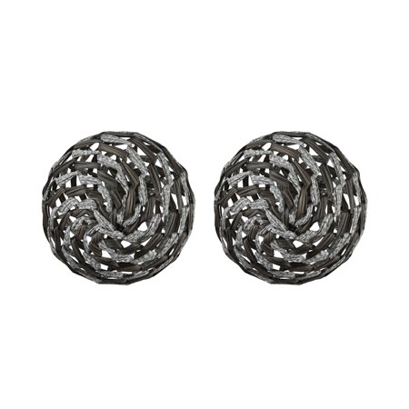 Dimond Home 351-10583/S2 Whoave Two Set Fabric and Metal Decorative Spheres Set ()