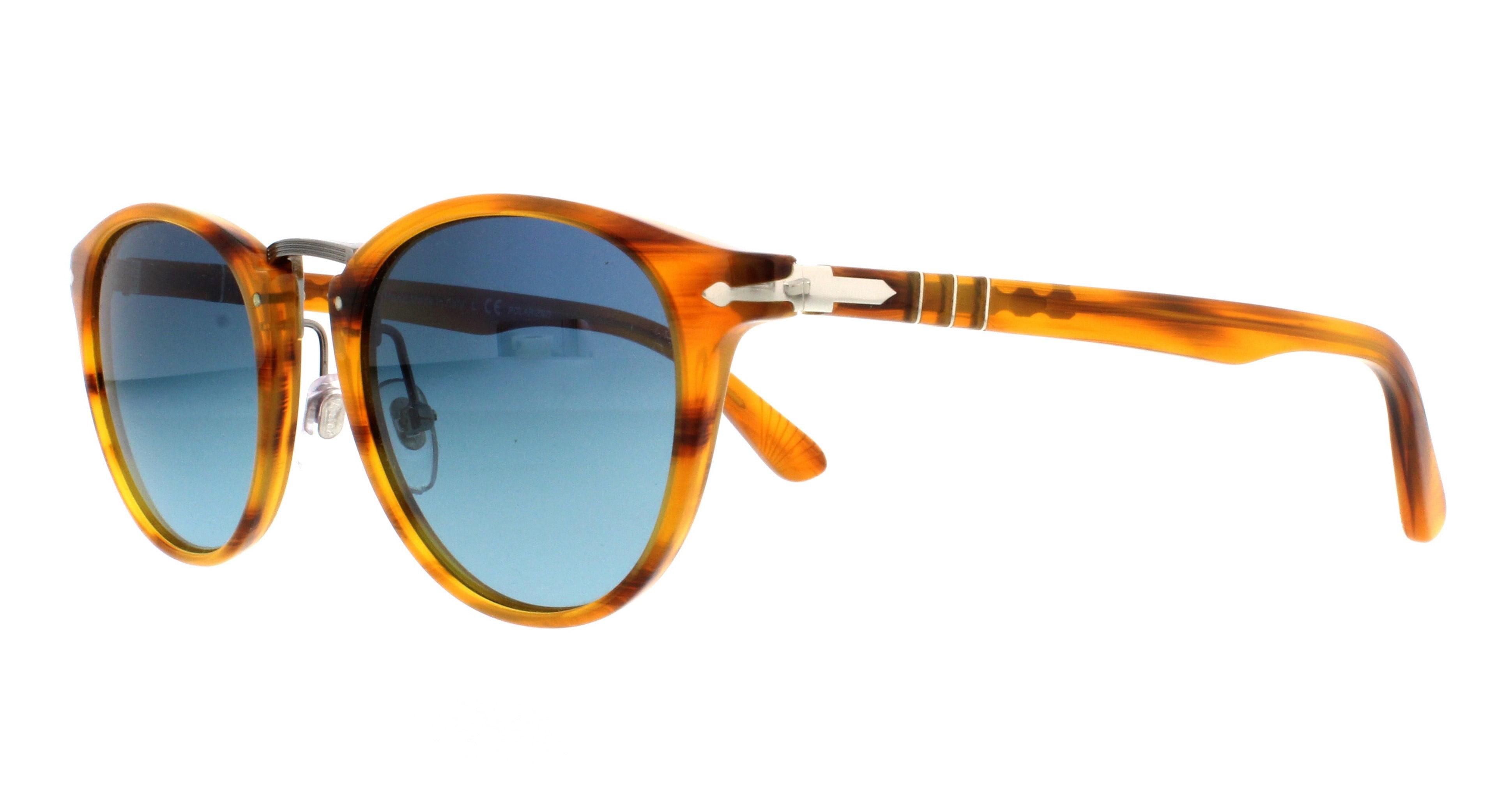 342f587501 Persol - PERSOL Sunglasses PO3108S 960 S3 Striped Brown 49MM - Walmart.com
