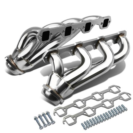 For 1979 to 1993 Ford Mustang 4 -1 Design 2 -PC Stainless Steel Exhaust Header Kit - 5.0L V8 81 82 83 84 85 86 87 88 89 90 91 - 1979 Ford Pickup Parts