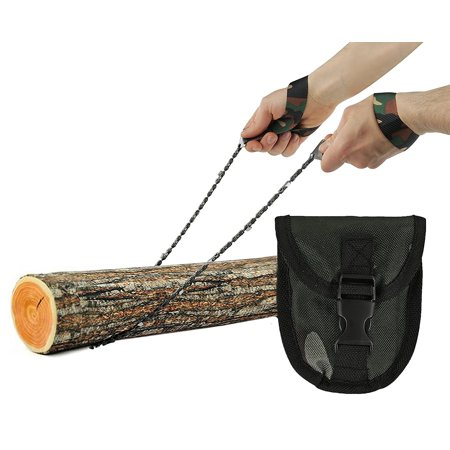 Wealers Pocket Chainsaw, Hand Saw Tool is Best for Survival Gear - Camping - Hunting or any Home Owner. Replaces a Pruning or Pole Saw (Army Green)