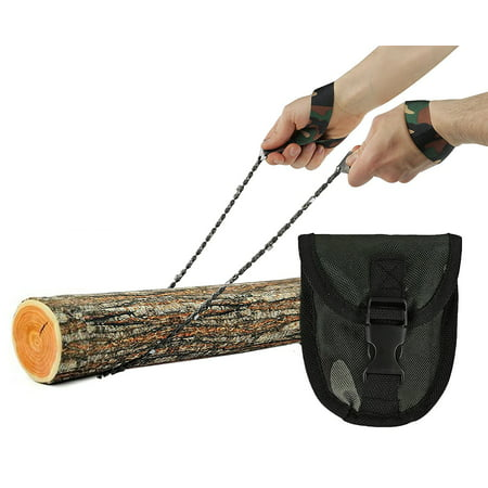 Wealers Pocket Chainsaw, Hand Saw Tool is Best for Survival Gear - Camping - Hunting or any Home Owner. Replaces a Pruning or Pole Saw (Army