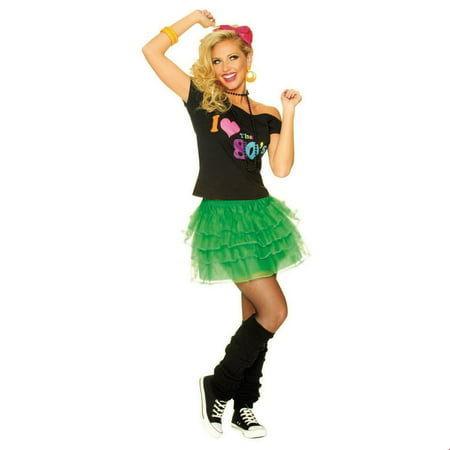 Women's Green 80s Petticoat Halloween Costume Accessory