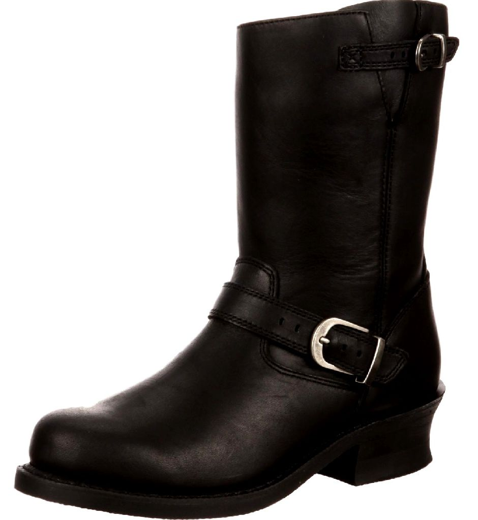 Durango Motorcycle Boots Womens Soho Engineer Round Toe Black DCRD154 by Durango