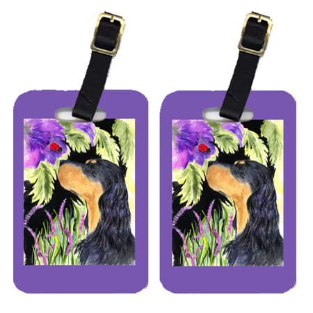 Pair of 2 Gordon Setter Luggage Tags