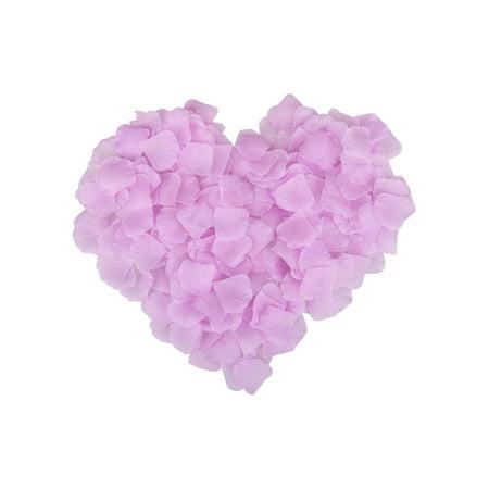 Bulls Silk - 500pcs Artificial Silk Rose Flower Petals Wedding Decor Bulk Light Pruple