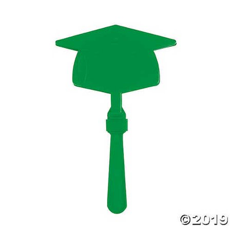 Green Graduation Mortarboard Clappers - Light Clappers