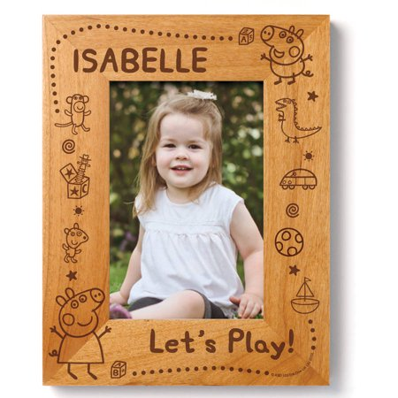 Personalized Peppa Pig Let's Play Wood Frame (Personalized Halloween Frames)