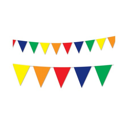 Multi-Colored Flag Pennant Streamer String Party Celebration Banner Decoration - Coloured Streamers