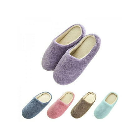 Women Slippers Interior House Plush Soft Cute Cotton Slippers Shoes Non-Slip Floor Furry Slippers Women Shoes for - Shoe House Charm