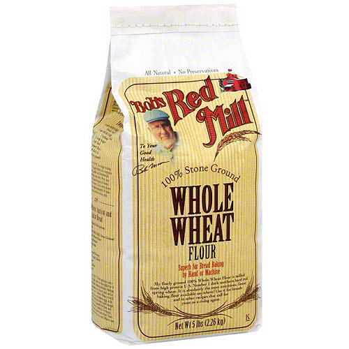 Bob's Red Mill Whole Wheat Flour, 5 lb (Pack of 4)