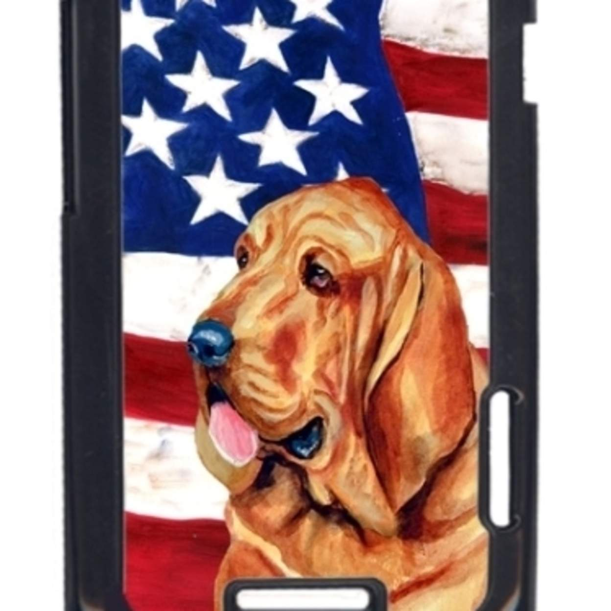 USA American Flag with Bloodhound  Cell Phone Cover HTC ONE X