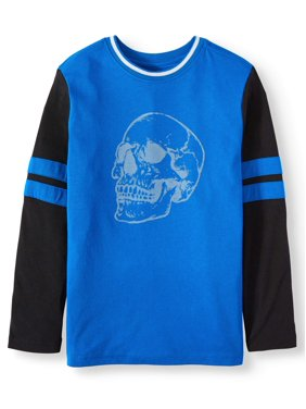 Wonder Nation Long Sleeve Graphic T-Shirt (Little Boys, Big Boys, & Husky)