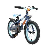 BIKESTAR Original Premium Safety Sport Kids Bike Bicycle for Kids Age 3-4 Year Old Children 16 Inch Mountain Bike Edition for Boys and Girls Blue & Orange