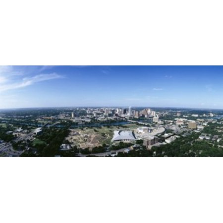 Aerial view of a city Austin Travis County Texas USA Poster Print (Party City Austin Texas)