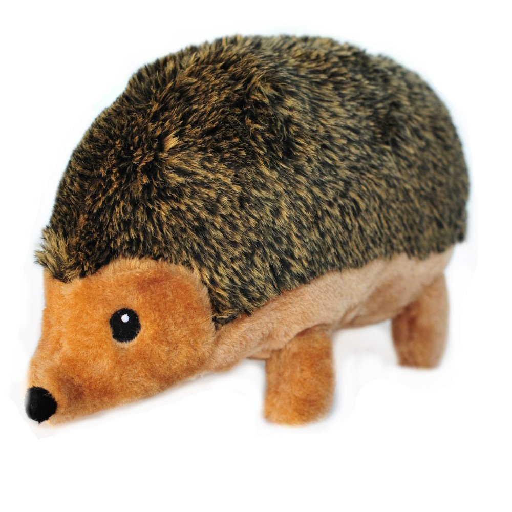 ZippyPaws Hedgehog Squeaky Plush Soft and Flurry Dogs Toy Brown X-Large 12 inch