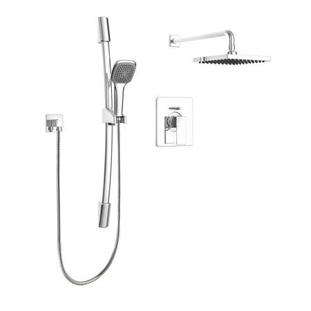 Belanger KIT-QUA130CCP Rain Pressure Balanced Dual Function Complete Shower (Complete Shower System)