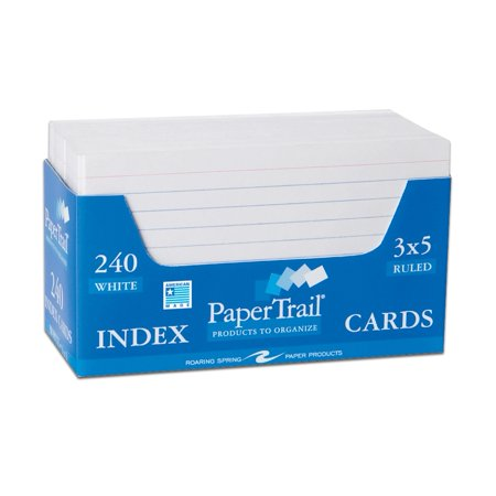 TRAYED INDEX CARDS 3