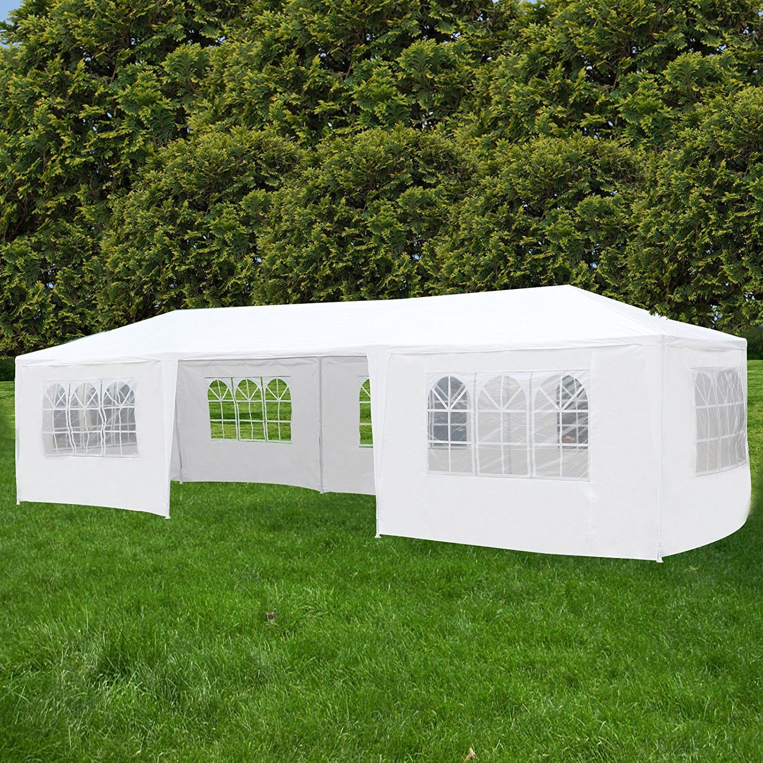 Ktaxon 10' X 30' Canopy Tent with 7 Side Walls for Party Wedding Camping and BBQ by Ktaxon