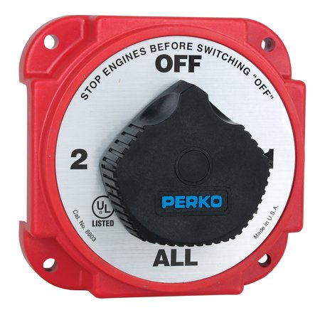 Perko 8603DP Heavy Duty Battery Selector Switch with Alternator Field Disconnect Heavy Duty Alternator Rotors