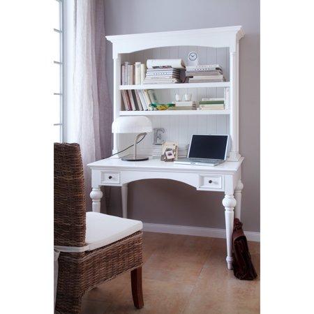 PROVENCE by Infinita Secretary Writing Desk with Shelving Hutch - (Mahogany Secretary)