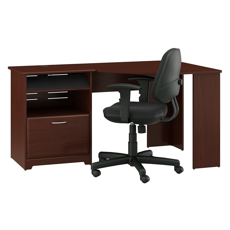Bush Furniture Cabot Corner Desk and Office Chair in ...