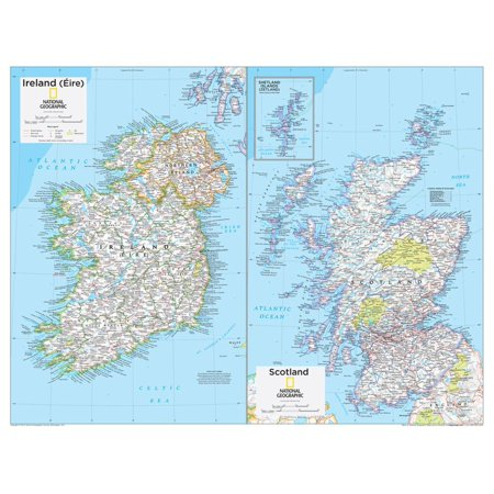 2014 Ireland and Scotland - National Geographic Atlas of the World, 10th Edition Print Wall Art By National Geographic Maps