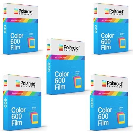 Polaroid Originals Instant Color Film for Color Frames (600 Camera) 5 Pack (600 Film Pack)