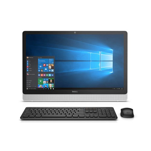 "Dell White/Silver Inspiron 3455 All-in-One Desktop PC with AMD A6-7310 Quad-Core Processor, 4GB Memory, 23.8"" touch screen, 1TB Hard Drive and Windows 10 Home"
