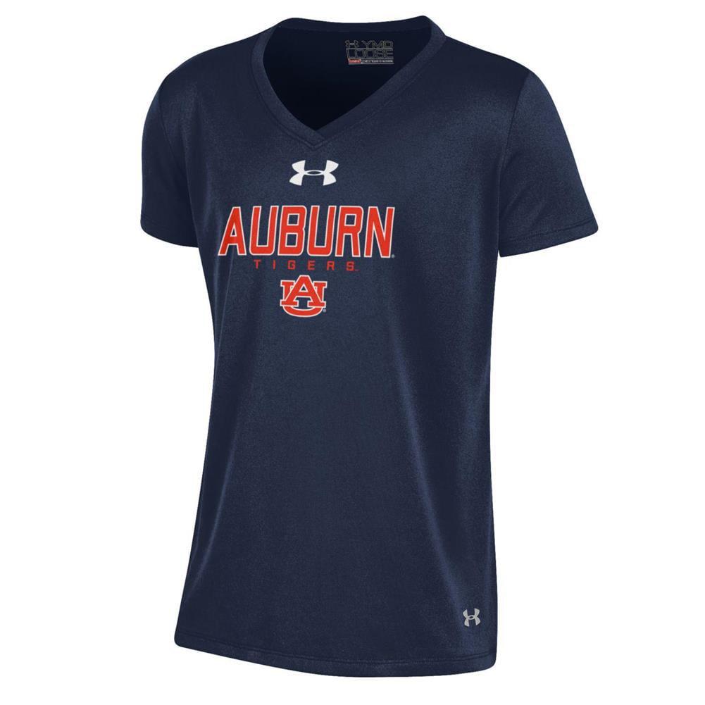 Girls Auburn University Tigers Under Armour Shimmer V Tee