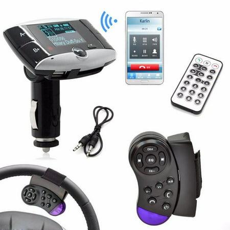 1.5''LCD Car Kit MP3 Player Bluetooth FM Transmitter Modulator SD MMC USB Remote (Wired Bluetooth Fm Modulator)