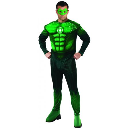 Deluxe Light-Up Muscle Chest Hal Jordan Adult Costume - Plus Size