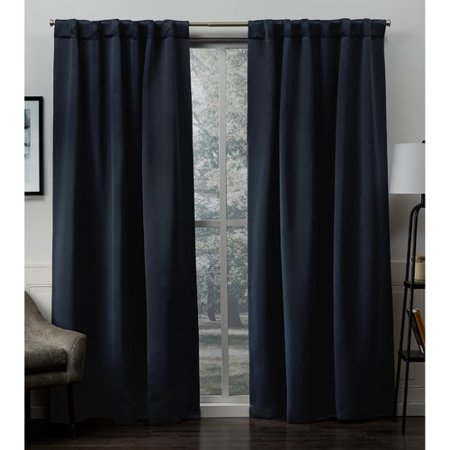 Red Barrel Studio Hagerman Solid Color Blackout Curtain Panels (Set of