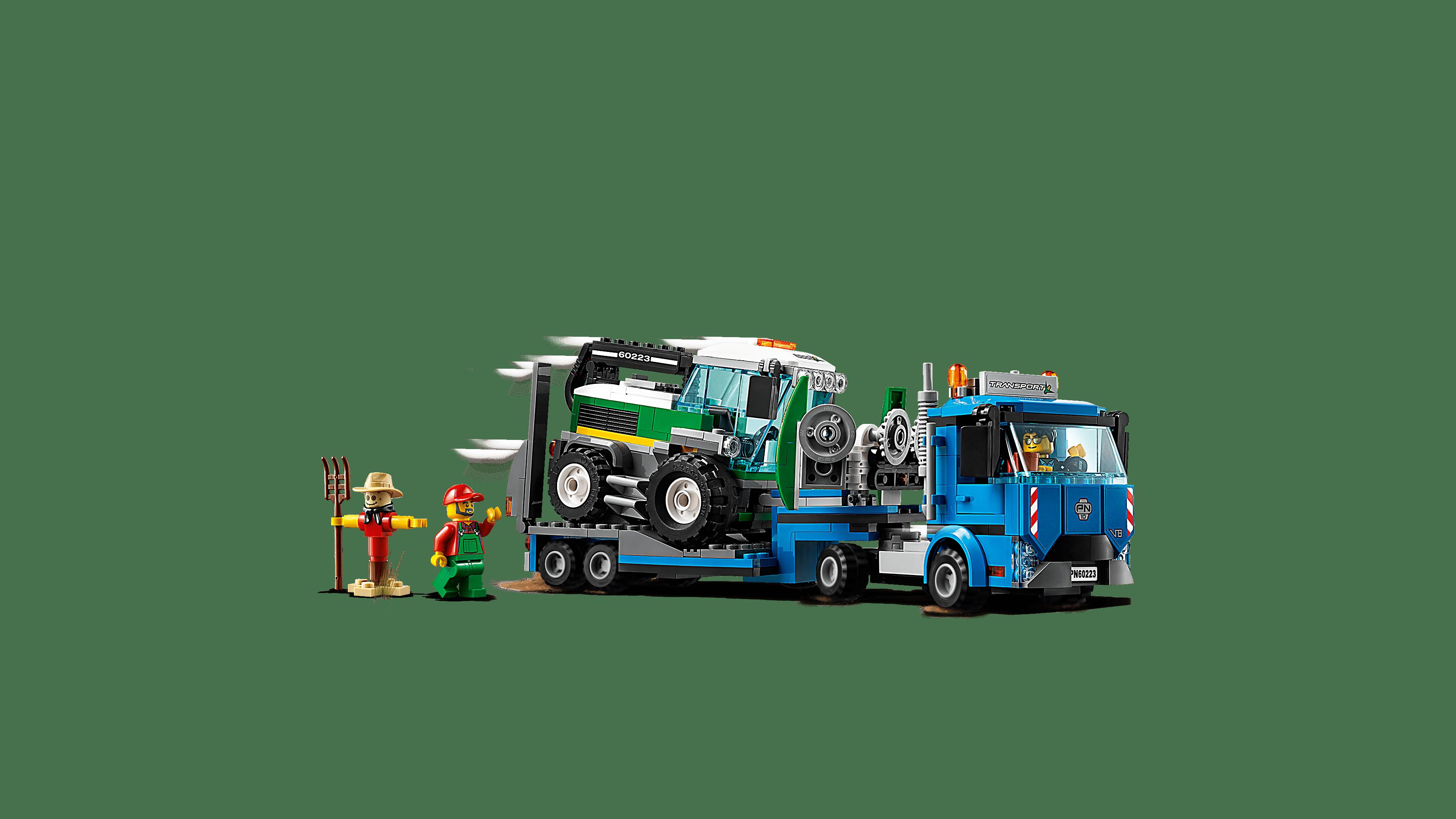60223 Transporter für Mähdrescher LEGO City 2er Set 60181 Forsttraktor