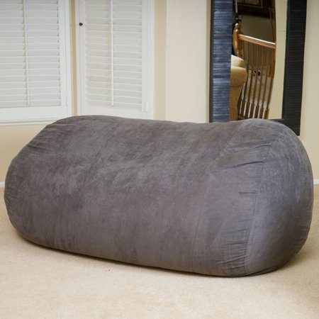 Magnificent Gdf Studio Stanfield Faux Suede 8 Foot Lounger Bean Bag Machost Co Dining Chair Design Ideas Machostcouk
