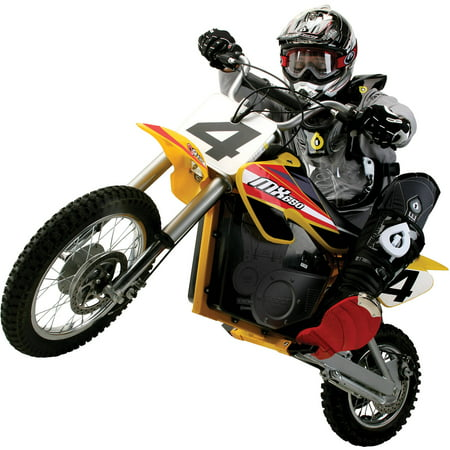 Razor 36 Volt Electric Powered MX650 Dirt Rocket Motocross Off-Road Bike - For Ages 16+ and Speeds up to 17 (Best 450 Dirt Bike 2019)