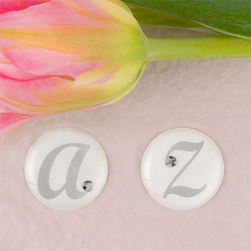 Weddingstar 9400-R Monogram with Single Rhinestone Epoxy Sticker Letter - R