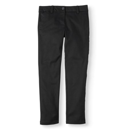 Wonder Nation Girls School Uniform Stretch Twill Skinny Pants](Catholic School Girl Uniform)