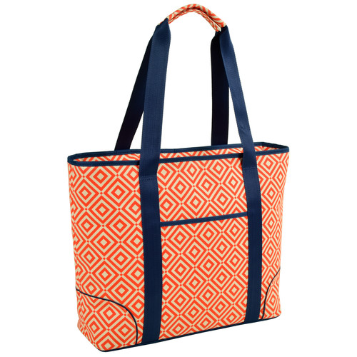 Extra Large Insulated Cooler Tote in Diamond Orange