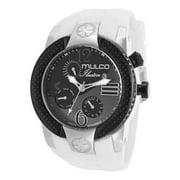 Men's 'Ilusion' Black/ White Silicone Watch