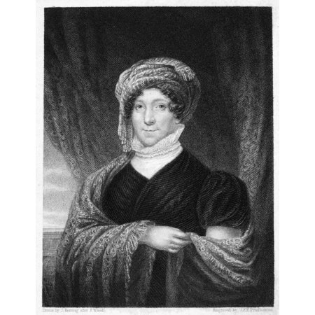 Dolley Madison  1768 1849  Nne Payne Wife Of James Madison Steel Engraving American 1836 Rolled Canvas Art     24 X 36