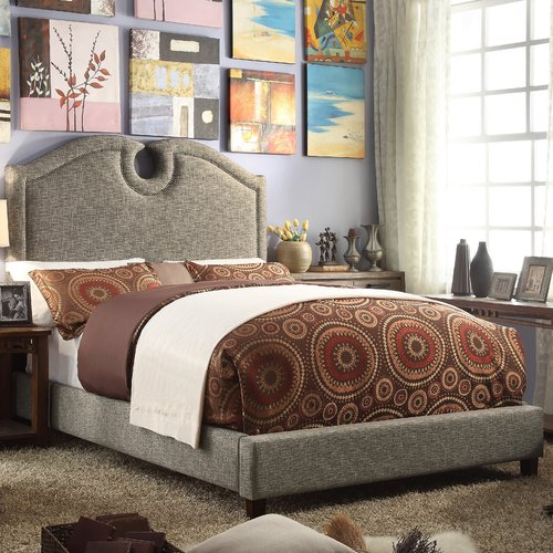 Mulhouse Furniture Eilo Queen Upholstered Panel Bed