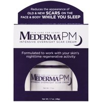 Mederma PM Intensive Overnight Scar Cream - Works with Skin's Nighttime Regenerative Activity - Once-Nightly Application Is Clinically Shown to Make Scars Smaller & Less Visible, 1.7 ounce Jar