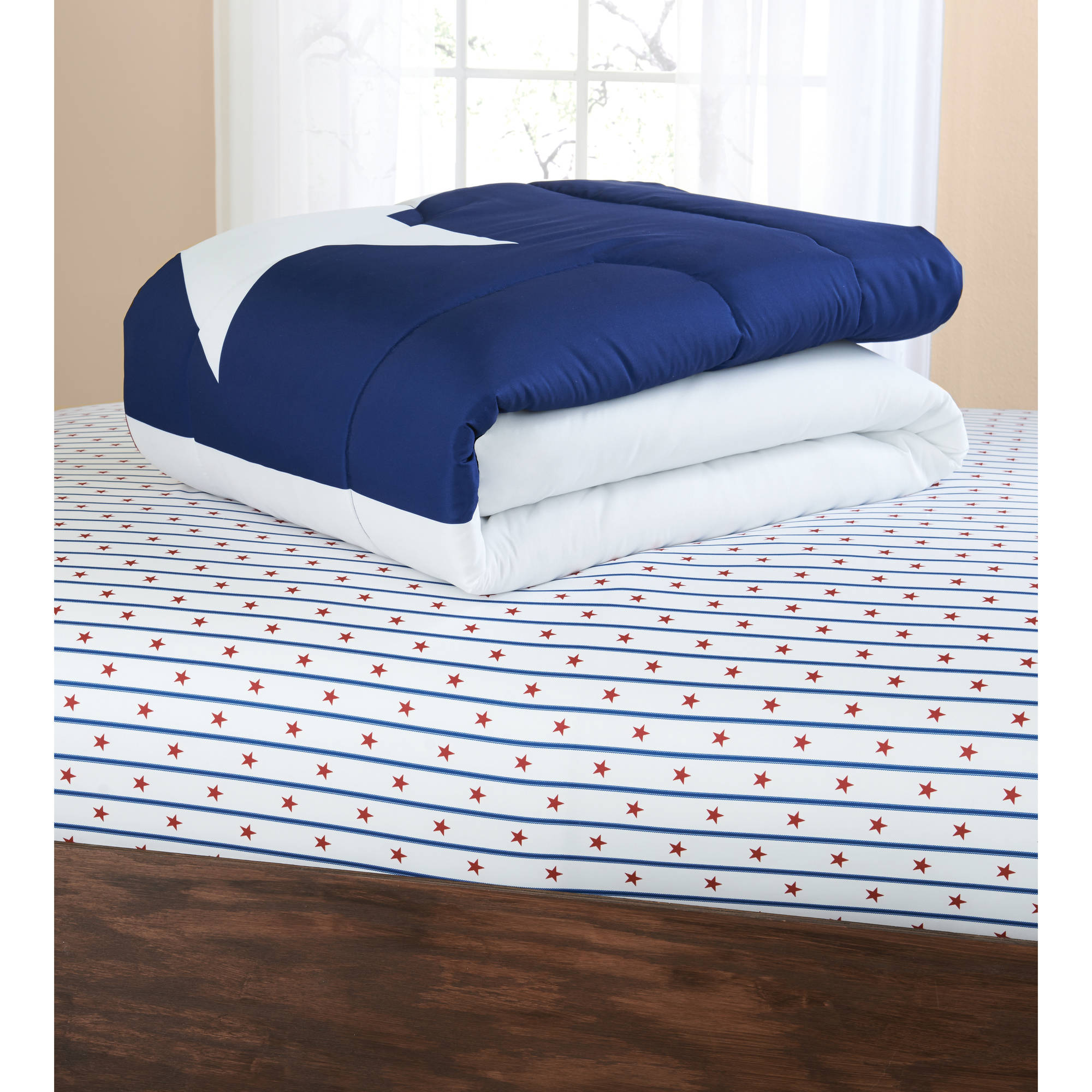 Mainstays Texas Star Bed In A Bag Coordinating Bedding Set Twin Xl Com