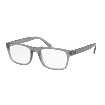 POLO Eyeglasses PH2161 5111 Matte Gray Transparent (Polo Glasses For Men)