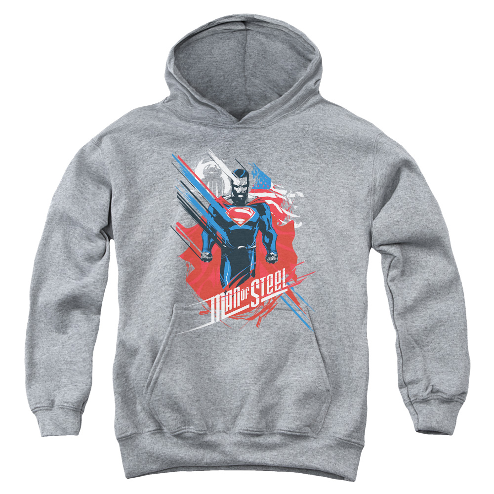 Man of Steel Superman American Man Big Boys Pullover Hoodie